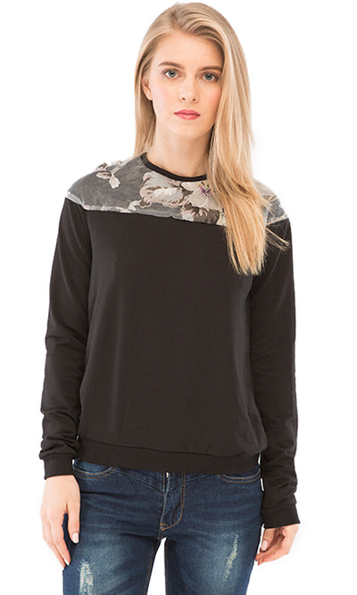35416 Fashionable Sweatshirt - Black