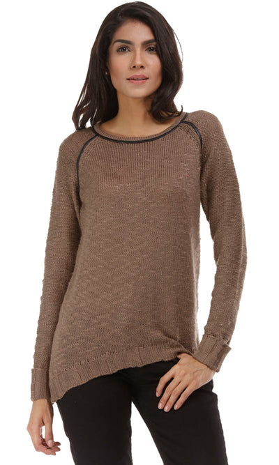 35447 Plain Pullover - Coffee Latte