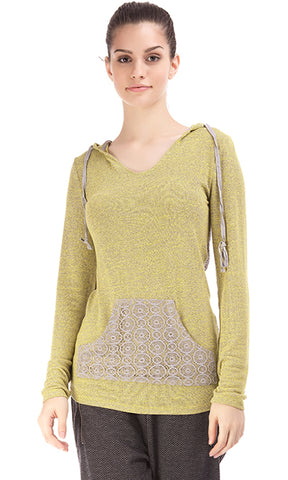 35458 Back Laced Hoodie - Yellow