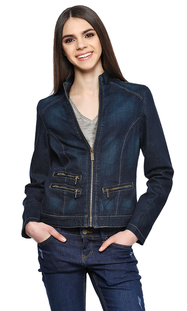 denim jacket-side zippers