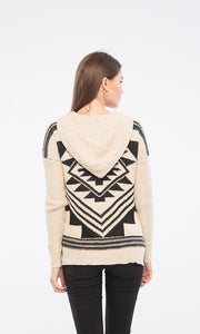 35507 Knitted Zipped Sweatshirt - Beige