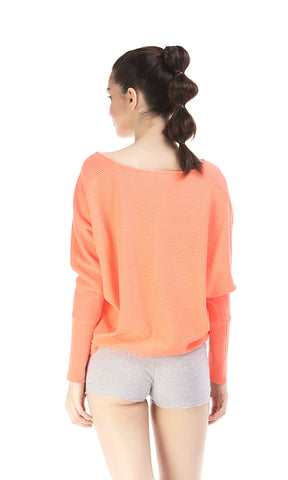 35515 Loose Fit Pullover - Peach