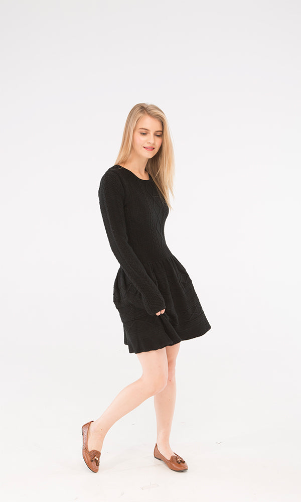 Cables Dress-Round Neck