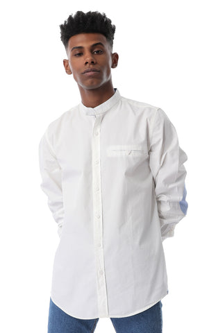 35683 Elbow Patch Shirt - White