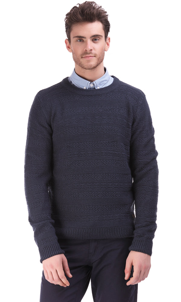 Cable Sweater-Round Neck