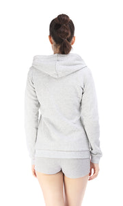 35883 Love Zipped Sweatshirt - Grey