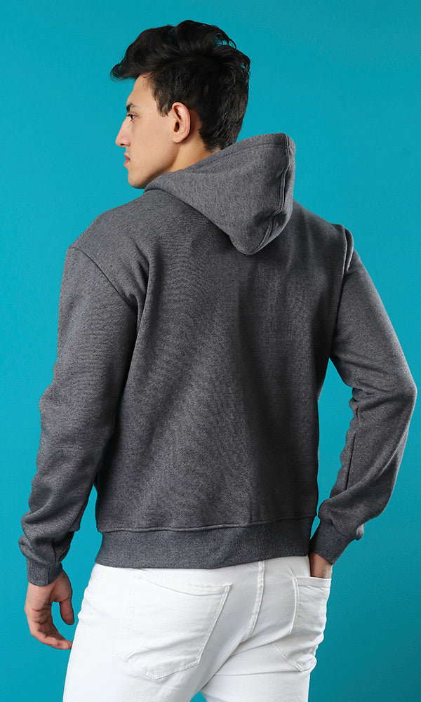 Zipper Closure Sweatshirt
