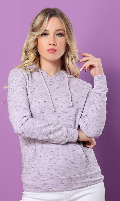 35969 Hooded Sweatshirt - Heather Light Purple