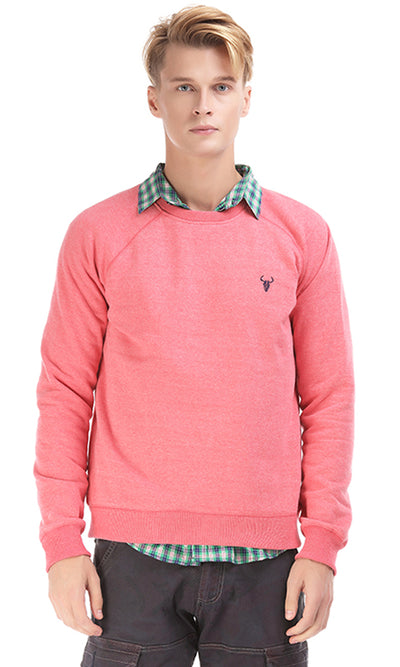 38121 Embroidered Sweatshirt - Pink