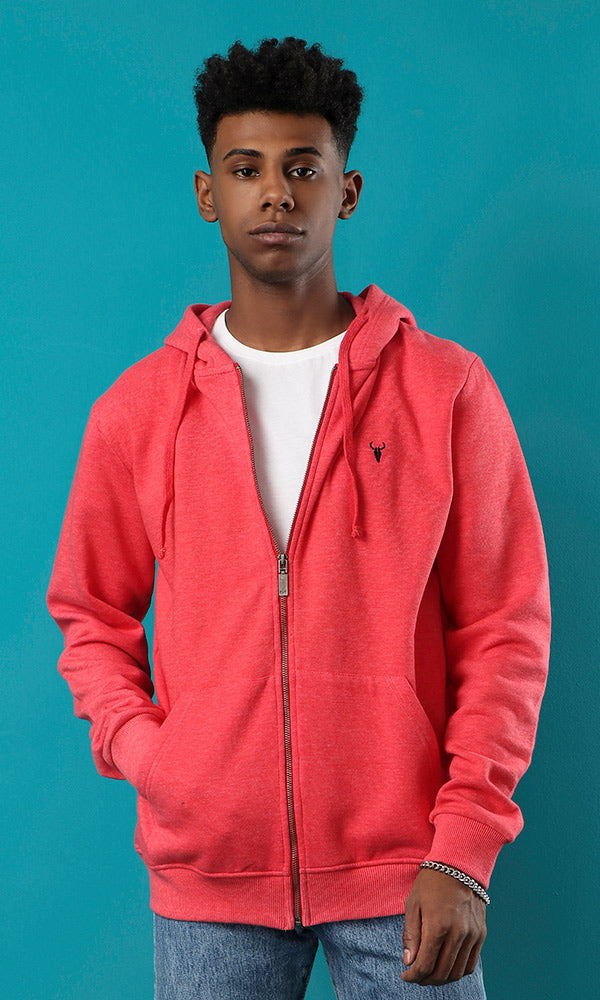 hooded sweatshirt-zip-up closure