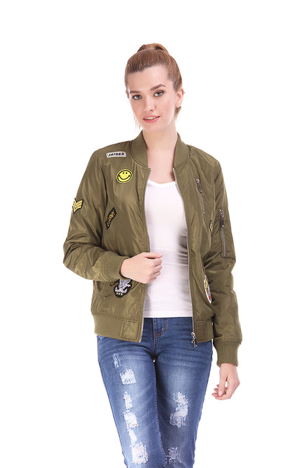 38149 Patch Bomber Jacket - Army Green
