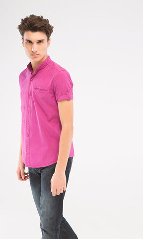 38227 Mandarin Shirt - Purple