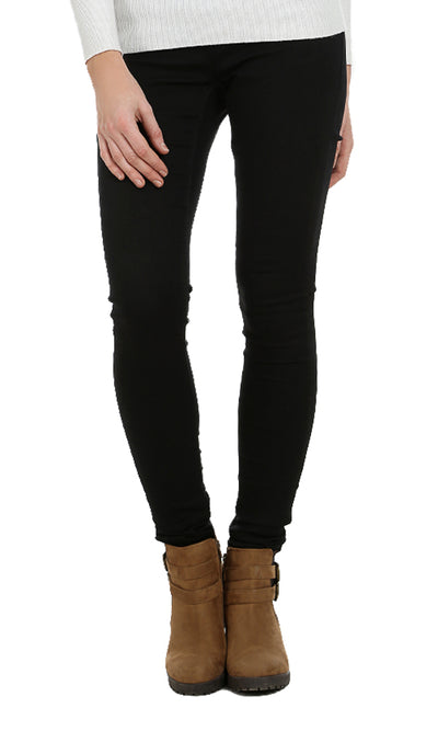 38278 Basic Solid Leggings - Black
