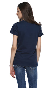 39293 Embroidery T-Shirt - Navy Blue
