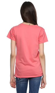 39294 Embroidery T-Shirt - Light Wine
