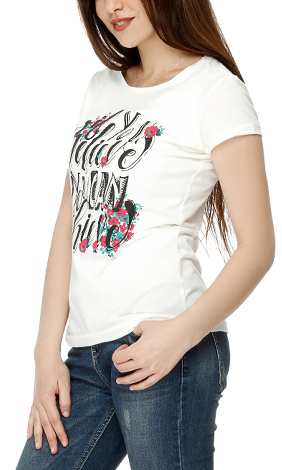 Embroidery T-Shirt-Short Sleeves