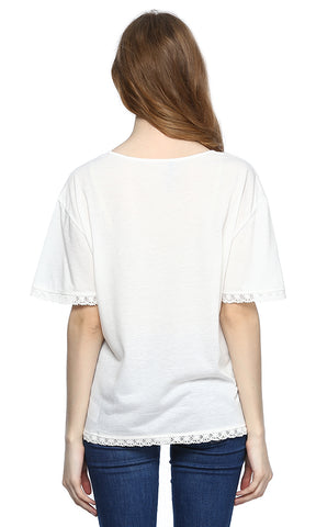 39305 Batwing Top - White