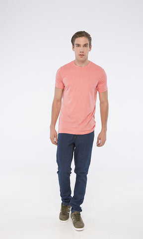 Heather Coral Round T-shirt