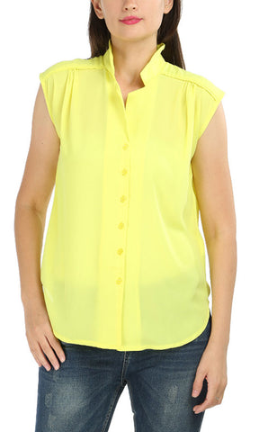 39423 Sleeveless Shirt - Neon Yellow