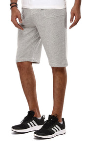 39581 Drawstring Comfy Short - Heather Grey