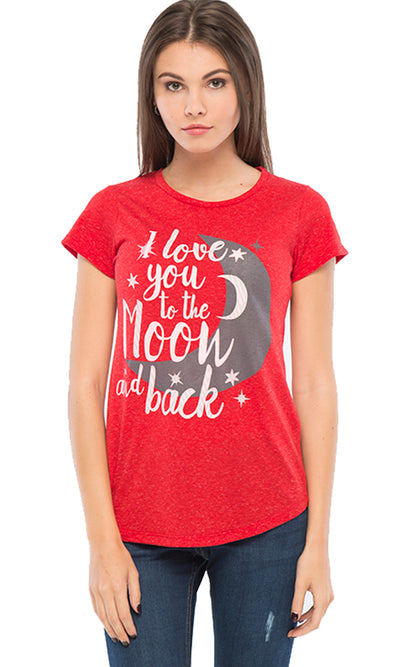 39735 Printed T-Shirt - Red