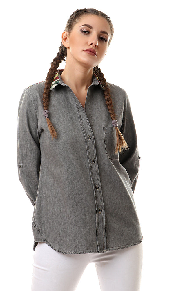 Long Sleeves Casual Shirt - Grey