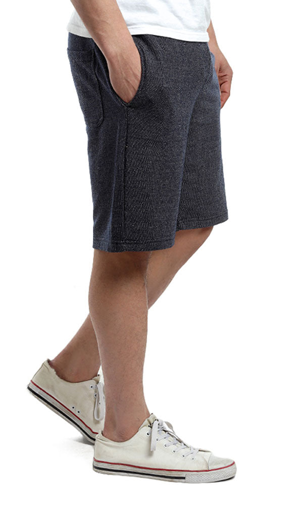 Elastic Waist Solid Short - Navy Blue