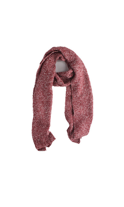 40238 Knitted Scarf - Red & White