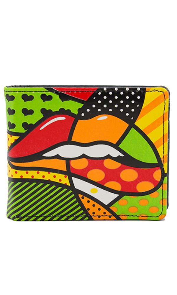 Fashionable Printed Wallet - Multicolour