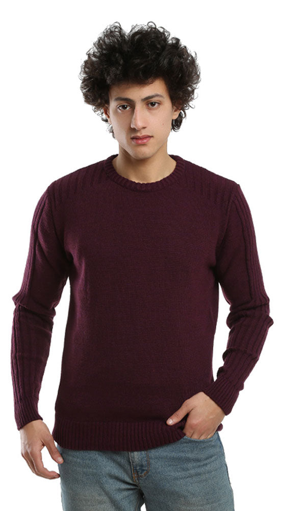 Plain Casual Pullover - Violet
