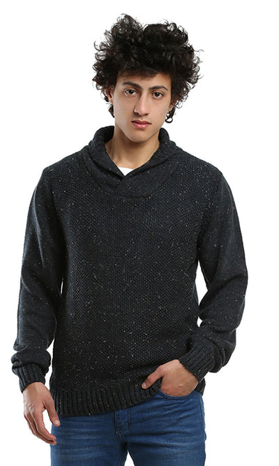 41523 Solid Casual Hoodies Pullover - Heather Blue