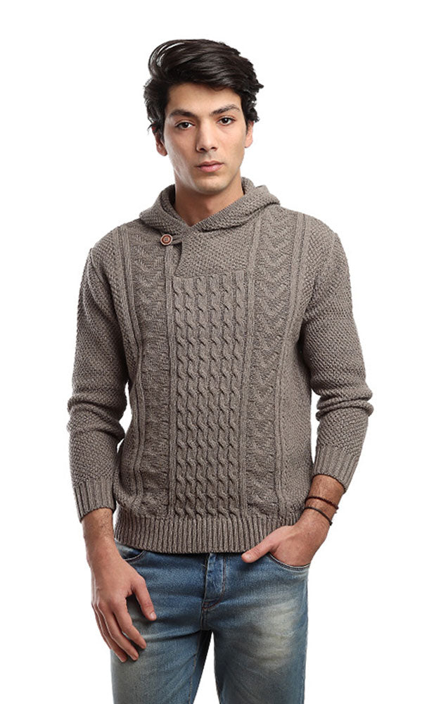 Casual Slip On Pullover - Coffee