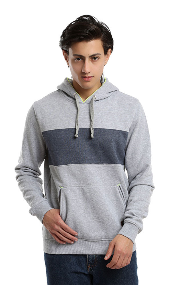 slip on solid sweatshirt - heather grey