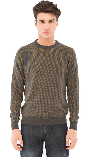 41533 Dotted Pullover - Dark Grey