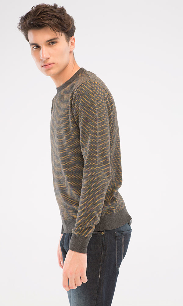 Dotted Pullover - Dark Grey