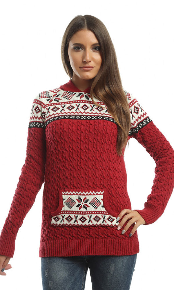 Slip On Pullover - Red