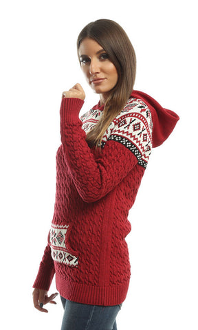 41543 Slip On Pullover - Red