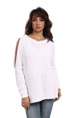 41550 Back Cuts Pullover - White