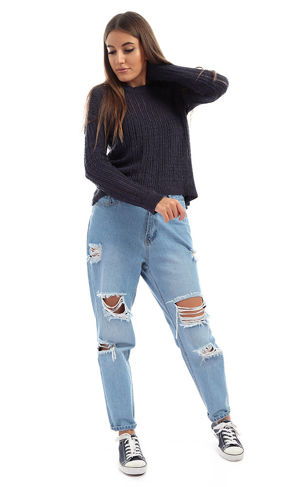 41611 Slee Knuit Sweater-Bater Blue