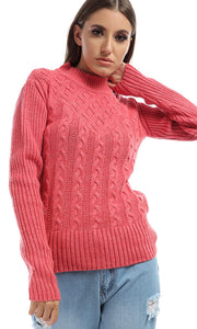41616 Tight Turtle Neck Beach Orange Pullover