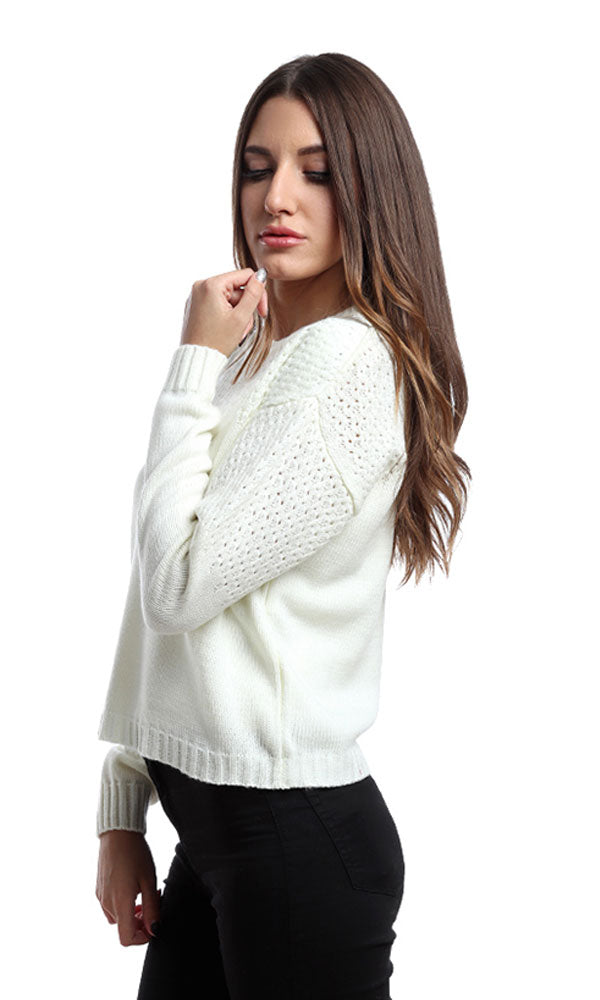 Short Casual Pullover - Off White