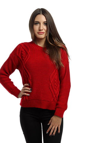 41659 Slip On Casual Pullover - Red