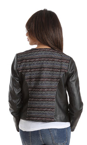 41683 Elegant Leather Jacket - Black