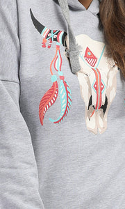 41692 Comfiest-Pull - Print Light Grey Hoodie