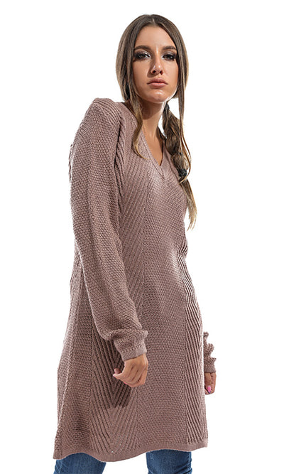41751 Plain Winter Long Sleeves Pullover - Blushed Pink