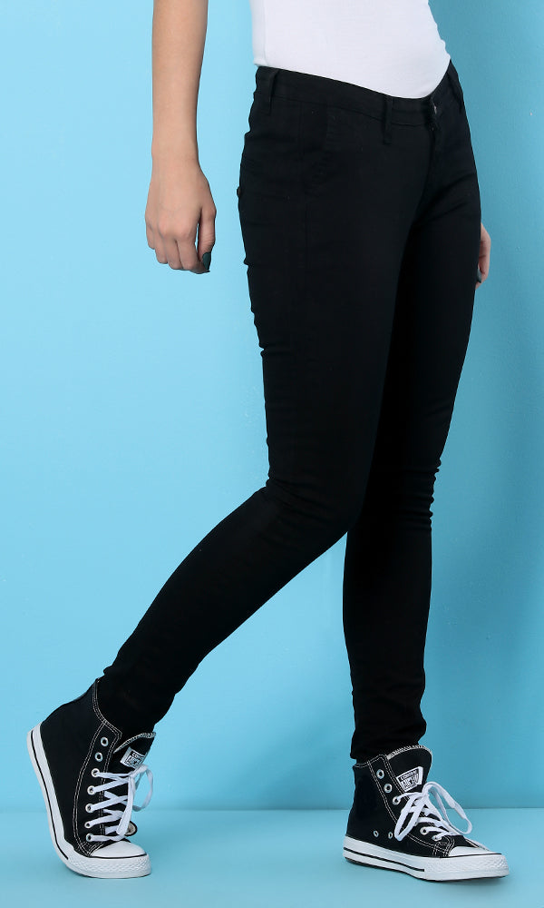 41865 Basic Cotton Pants - Black
