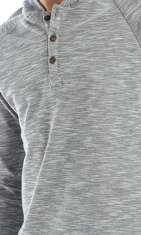 41901 CairoKee Collection Casual Slip ON Sweatshirt - Grey