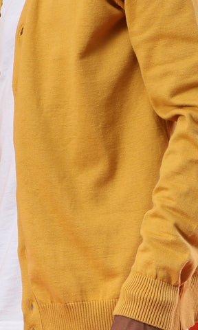 41906 Casual Comfy Mustard Basic Cardigan