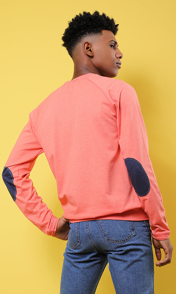 Plain Full Sleeves T-shirt - Orange