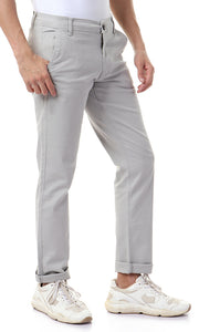 42023 Straight Fit Gabardine Light Grey Pants